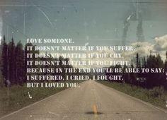 love someone