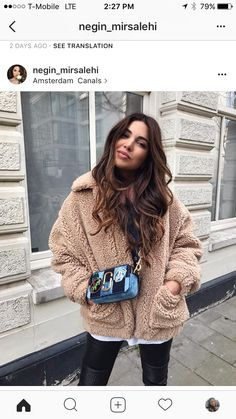 Cozy winter style with Negin Mirsalehi. Paris Outfits, Mode Outfits, Casual Outfits, Fashion Outfits, Womens Fashion, Cozy Winter Fashion, Fall Winter Outfits, Autumn Fashion, Image Fashion