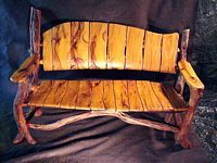 stick+chairs+for+garden | Rustic Garden Bench. Office Living Room Kitchen Bedroom seating settee ...