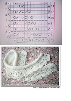 Knitted edging ~ this could be exquisite as a collar on a girls velvet winter dressBeautiful leaf lace scarf ~~ KKnitted edgingTutorial for Crochet, Knit. can only find Knitting Stiches, Knitting Charts, Lace Knitting, Knitting Patterns, Knit Or Crochet, Crochet Shawl, Knit Edge, Lace Scarf, Lace Patterns