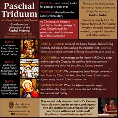 "What is the Paschal Triduum? <a class=""pintag"" href=""/explore/infographic/"" title=""#infographic explore Pinterest"">#infographic</a>"