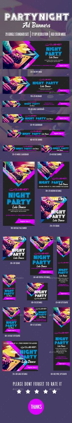 Party Ad #Banner - #Banners & Ads #Web Elements Download here:    https://graphicriver.net/item/party-ad-banner/20431191?ref=alena994