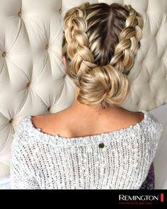 Un peinado original y trendy que te permitirá ser el centro de atención en donde te pares. #hair #hairstyle #cool #ashion #trendy #spacebuns #original #swag
