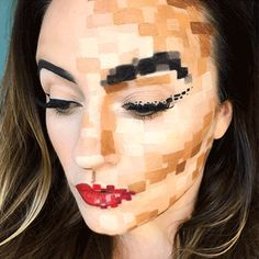 Pixel Halloween Makeup | Pretty in my Pocket | PRIMP