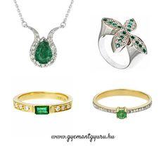 Smaragd köves gyémánt ékszerek a www.gyemantgyuru.hu -tól.