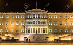 Hellenic Parliament At Night - Athens, Greece Stock Photo, Picture And Royalty Free Image. Pic 36943950.