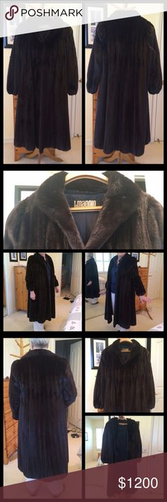 BLACK WILLOW Vintage Natural Mink Fur Coat ✨1 of 2 BLACK WILLOW Brown Natural Ranch Mink Fur Coat by John Adkins.   Beautiful soft chocolate brown mink fur coat. This coat is in GREAT used condition. Fur is perfect, 2 hook & eye closure buttons. 2 exterior & 1 interior pocket.  Mink # is hard to read, guessing it's #1275  In the fur world, the highest price tags are attached to Black Willow & Black Onyx minks, raised in very limited quantities.   See 2nd listing 4 more.  🏆 Suggested User…