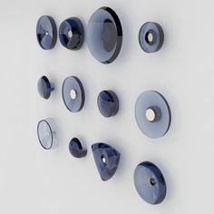 #Tom Dixon   Glass knobs