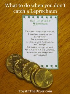 This fun, free, printable Leprechaun letter will help ease your child's disappointment when they don't catch a Leprechaun.