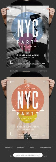 NYC Party Flyer Template PSD