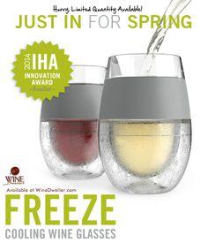 Freeze Cooling Wine Glasses rock!