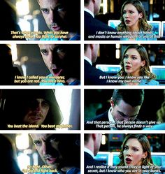 2x09 Three Ghosts & 2x21 City Of Blood - Encouraging Oliver to fight back - Oliver, Tommy & Laurel, Arrow