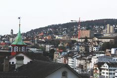 Part of panoramatic view in Zurich, Switzerland Zurich, Switzerland, Paris Skyline, Explore, Travel, Viajes, Destinations, Traveling, Trips