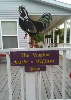 Just the sign,  no rooster.