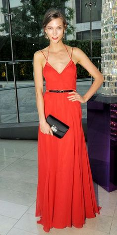 Repinning this because Karlie and that red dress are perf