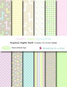 Digital paper newborn/baby