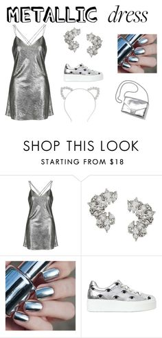 """metallic runway"" by kylee-kee ❤ liked on Polyvore featuring Topshop, Elise Dray, Kenzo, Loeffler Randall and Monki"