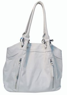 """Purse Babe Women's tote shoulder bag with multiple compartments C1-synthetic leather-white. Zipper top closure. Made of soft synthetic leather. Spacious fully lined fabric compartment. Handle drop: 10.5"""". Body of bag: L 16"""" * H 13"""" * W 7"""". A stylish tote accented with silver-toned hardware and 2 front vertical zipper pockets. A medium satchel purse with 2 Interior zip wall pockets, 2 interior pocket organizers , and a back zip wall pocket to keep your daily essentials organized and secure."""