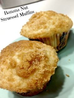 My new favorite muffin recipe!! These are so yummy!  Just made them! Will make again soon!  Banana Nut Struessel Muffins....just made these! In the oven now :)~~