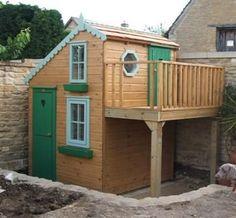 outdoor playhouses | Playhouses outdoor with raised veranda #backyardplayhouse