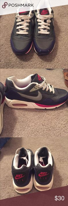 Nike Air Max Gray, purple, pink, and white air maxes. Only worn 3 times Nike Shoes Sneakers