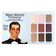 Meet Matt(e) Trimony. Matte Eyeshadow Palette ($42) ❤ liked on Polyvore featuring beauty products, makeup and palette makeup