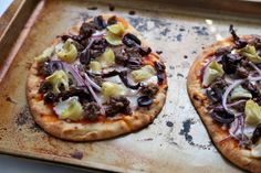 Tasty Kitchen Blog: Greek Lamb Naan Pizzas. Guest post by Megan Keno of Wanna Be a Country Cleaver, recipe submitted by TK member Marie of L...