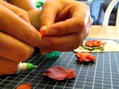How to make a cute flower with stampin up card stock and punches