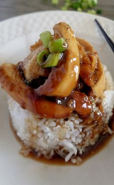 Baked Chicken Teriyaki. I use boneless skinless chicken thighs, and I only did two of them and halved the recipe. And didn't add ginger(ew!). Yum! - Dev 08/28/14