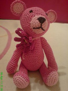 Crocheted Teddy Bear Amigurumi ~ Free Download Pattern ( Marguerite  Free Pattern  Click here: http://www.ravelry.com/patterns/library/marguerite-6 )