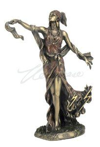 Bronze Finish Oya African Goddess Orisha Statue Yoruba Santeria - The African goddess of transformation, wind, and storms in stunning detail.  $49.95