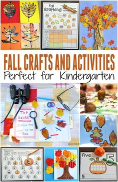 Tons of fun fall crafts and activities for kids! Printables, fall art projects…