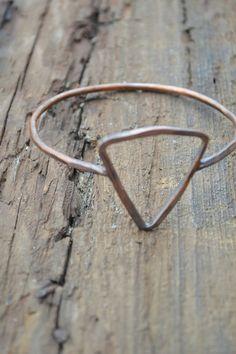 Triangle Bracelet // Geometric Jewelry // Rustic Boho Bracelet // Handmade by Korey Burns on Etsy, $20.00
