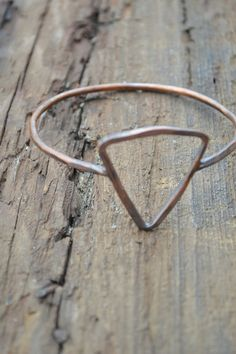 Triangle Bracelet // Geometric Jewelry // Rustic Boho Bracelet // Handmade by Korey Burns on Etsy, $20.00