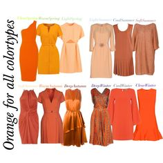 518. Shades of orange by natlik on Polyvore featuring moda, Vero Moda, Moschino Cheap & Chic, Elisabetta Franchi, Gentryportofino, Givenchy, Blumarine, Victoria, Victoria Beckham, Emilia Wickstead and River Island
