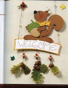 Handicrafts with natural materials Craft ideas Na Diy And Crafts, Arts And Crafts, Paper Crafts, Diy For Kids, Crafts For Kids, Fall Preschool Activities, Fall Clip Art, Crochet Fall, Fall Decor