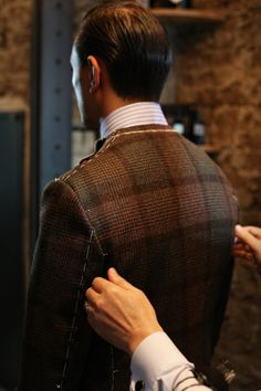Tailorable & co. — Fox Flannel jacket up for second fitting.
