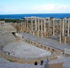 Leptis Magna in North Africa.Roman Ruins of Leptis Magna - Libya