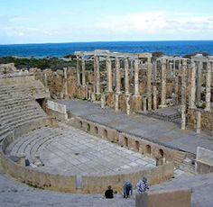 Leptis Magna in North Africa.Roman Ruins of Leptis Magna - Libya