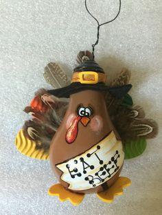 Turkey Light Bulb Ornament by Wattsinyourheart on Etsy