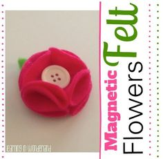 Learning in Wonderland Magnetic Felt Flowers