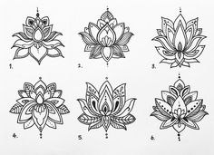 Coupla small lotus tattoo designs for a groovy gal ✨ Mandala Tattoo – Fashion Tattoos Lotus Tattoo Design, Small Mandala Tattoo, Lotus Flower Tattoo Design, Lotus Design, Flower Tattoos, Lotus Mandala Design, Lotus Flower Mandala, Hawaiianisches Tattoo, Unalome Tattoo