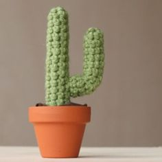 This tiny cactus takes just a few basic crochet techniques to make. Learn how to make your own!