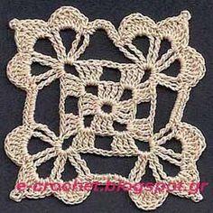 Crochet Edgings Design Classic motif 2 - seamless crochet with edge variations Granny Square Crochet Pattern, Crochet Blocks, Crochet Flower Patterns, Crochet Diagram, Crochet Squares, Crochet Granny, Crochet Motif, Crochet Doilies, Crochet Flowers