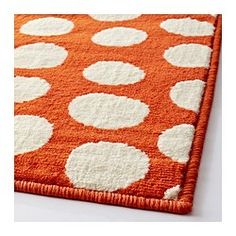 ULLGUMP Rug, low pile, orange, white - IKEA