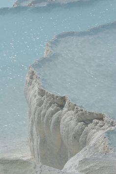 calcium formations, Turkey