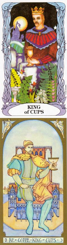 King of Cups: compassionate and a master of emotions with selfish intentions (reverse). Moon garden Tarot deck and Renaissance Tarot deck: 1 card tarot, parrot astrology cards online and tarot cards yes no. The best ritual and lenormand cards. #witchcraft # #spell #ios #tarotcards #spellwork
