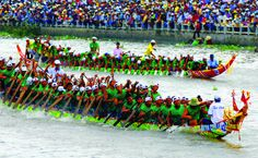Boat racing Ca Ty River. Every 2nd day of Tet, there is the boat racing festival in Ca Ty River in Phan Thiet City. Boat racing is a traditional sport activity connected with local fishermen's life. Thousands of people gather along the river to watch and support their favourite team.