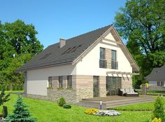 DOM.PL™ - Projekt domu HG-n3 CE - DOM AL1-80 - gotowy koszt budowy Gazebo, Shed, Outdoor Structures, House Styles, Outdoor Decor, Home Decor, Houses, Kiosk, Decoration Home