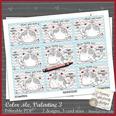 Valentine Cards for Children whales
